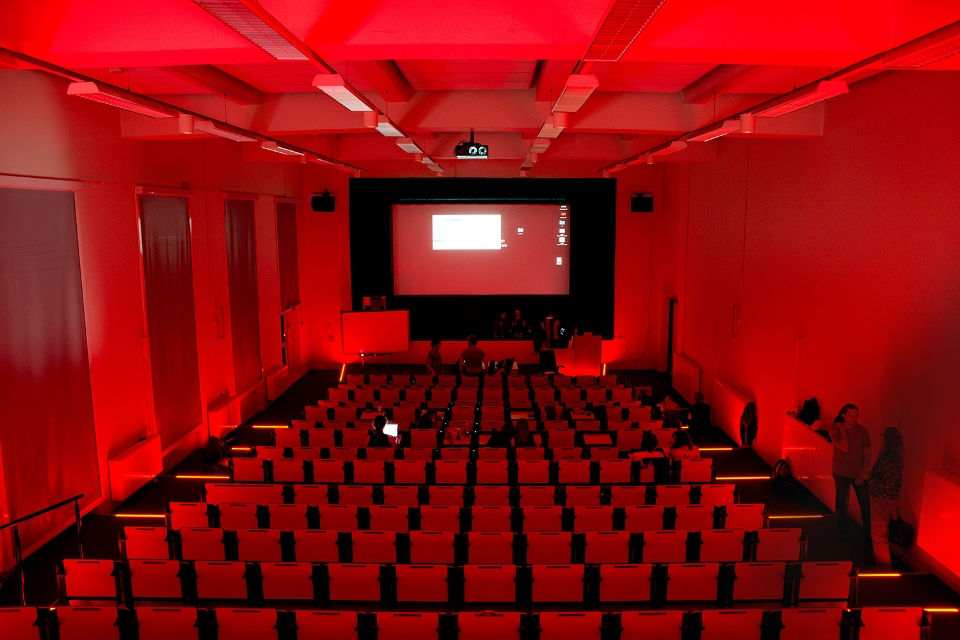Les in het auditorium
